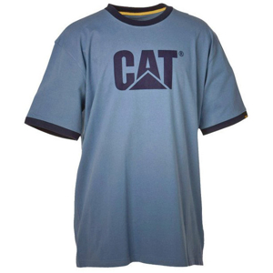 T-SHIRT CAT APARELL LOGO DARK HEATHER ROZ. XL
