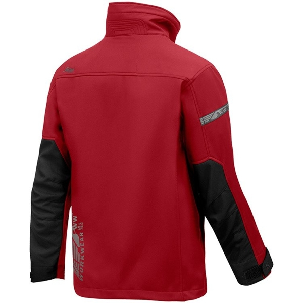 1200 Kurtka Soft Shell AllroundWork kolor chilli-czarny Snickers Workwear